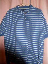 EUC REDUCED Ivy Crew 100% Cotton Blue Striped Short Sleeve Polo size XL