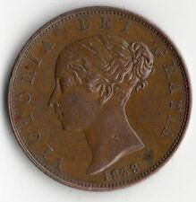 ANGLETERRE UK @ UNITED KINGDOM @ RARE MONNAIE DE 1/2 PENNY DE 1838 @ VICTORIA