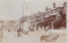 Isle of Wight RP Postcard. Sandown. Period Dress. Car. Rare!  Mailed 1913