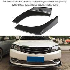 Universal Front Bumper Lip Splitters Winglets Canards 2X Carbon Fiber Color T6I8
