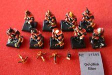 Games Workshop Warhammer Dark Elf Elves Warriors x9 Fantasy Regiment Army GW 90s