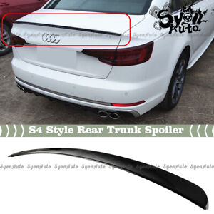 FITS 2017-2021 AUDI A4 & S4 B9 GLOSSY BLACK S4 STYLE REAR TRUNK SPOILER WING LID