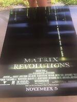 Movie Poster The Matrix Revolutions Original 27 X 40 Keanu Reeves