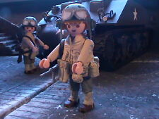 PLAYMOBIL CUSTOM US SPECIALIST .ARMORED CAVALRY(FRANCE-1944) REF-0174 BIS