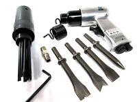Air Hammer Descaler Needle Gun Tool Kit Paint Rust Remover 19 Pin 4 x Chisels
