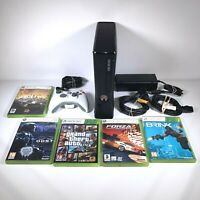 Xbox 360 S Slim Console Mega Bundle 20GB HDD With 5 Games Controller and Cables