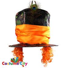 Gli adulti Alice nel Paese delle Meraviglie Mad Hatter Hat & Parrucca Costume Accessorio