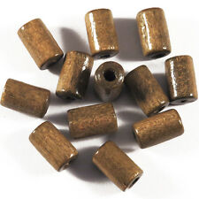 Lot de 50 Perles en Bois Tubes 6 x 10 mm Marron Clair