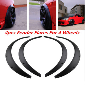 Universal Car Fender Flares Flexible Yet Durable Polyurethane Black arches kit