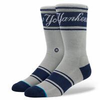 Stance New York Yankees MLB Team Socks Mens Sz L/XL  NWT Gray/Blue