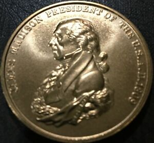 James Madison Bronze Medal 34 mm Peace and Friendship Uncirculated
