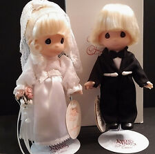 "Precious Moments Soft Dolls: 7"" Bride & Groom Doll Set - Bride #1621 Groom #1622"