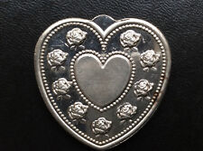 Especially For You Heart Shaped Silver Art Medal P2658