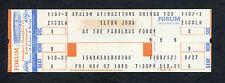 Original 1980 Elton John Unused Full Concert Ticket Los Angeles Forum Rocket Man