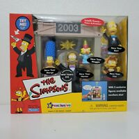 Playmates The Simpsons NEW YEARS EVE 2003 PlaySet 5 Figures World of Springfield