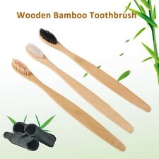 wooden toothbrush with bamboo handle