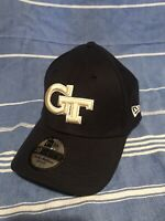 Georgia Tech Yellow Jacket New Era Blue Fitted Hat Cap 39thirty Small Medium EUC