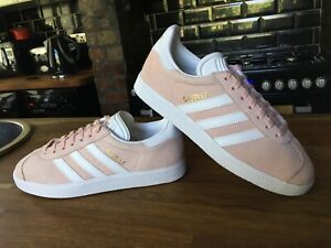 WOMENS GORGEOUS PEACH ADIDAS GAZELLE UK 4 ABSOLUTELY FANTASTIC USED CONDITION!