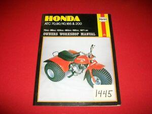 HONDA ATC 70 90 110 185 200 1971 ON OWNERS WORKSHOP MANUAL 72,89,105,180,192 CC