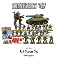 Conflicto 47 Ejército de los E. E. U. u . Juego Inicio Warlord Games WW2 1947