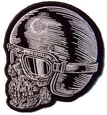 "SKULL RIDER HEAD  PATCH P8810 jacket 4""  BIKER EMBROIDERED NEW googles helmet"
