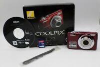 Nikon COOLPIX L22 12.0MP Digital Camera - Red- 4 Gig Card - Box ECU!