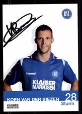Koen van der Biezen Autogrammkarte Karlsruher SC 2012-13 Original Sign+A 102340