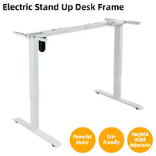 2-Stage Desk Height Adjustable Electric Stand up Desk Frame for Home Office New