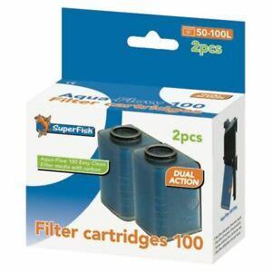 2 Pack Aqua Flow 100  Firsh Tank  Aquariam Filter Replacement Cartridge