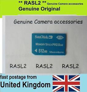 Memory Stick Pro Duo 512 MB for Sony CyerShot Camera DSC- W30 W35 W80 W90 W100