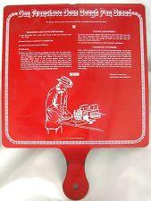 SAN FRANCISCO SOUR DOUGH RED ENAMEL PAN BREAD & RECIPE SOURDOUGH JACK'S SIGN PAN
