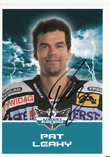 Pat Leahy Black Wings Linz 2011-12 TOP AK Orig. Sign. Eishockey +A38219
