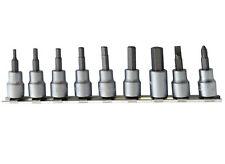 "10pc 3/8"" Sockets Bit Set Hex/Llave Allen 3mm, 4mm, 5mm,5 .5mm, 6mm, 8mm y 10mm"