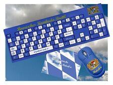Bayerische Computer Tastatur / Bayern Fan blau-weiß München Fußball Geschenk NEU