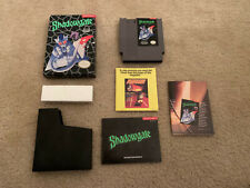 Shadowgate Video Game Nintendo System NES 1989 Complete in Box CIB manual Insert