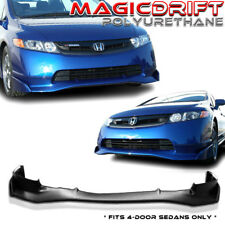 NEW MU MUGN Si Front Bumper Lip Urethane Plastic for 06-08 Honda Civic 4D Sedan