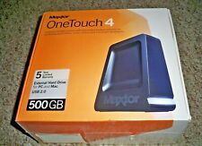 NEW MAXTOR ONE TOUCH 4 EXTERNAL HARD DRIVE 500GB STORAGE for PC OR MAC USB 2.0 !