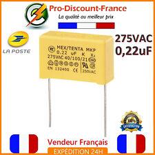 Condensateur MKP 0.22µF 275VAC 220nF 0.22MF 0.22uF X2 AC275V 275V Polypropylène