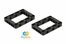 LEGO Technic - 1x Liftarm 5x7 Open Center Frame Grey / L B Gray 64179