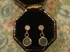 Onyx Round Not Enhanced Yellow Gold Fine Earrings