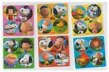 """80 Assorted Peanuts Movie Mini Stickers, 1.2"""" Round Each, Party Favors"""