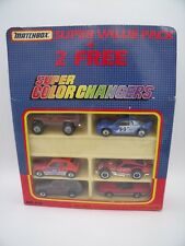 MATCHBOX SUPER VALUE PACK MB-815 MR2 205 T16 CORVETTE BRONCO CHEROKEE 1989 TOP