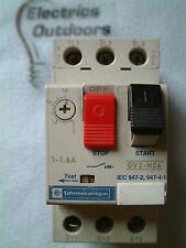 Telemecanique 1 - 1.6 Amp 50hz Manual Start Stop Switch Gv2-M06 gv2m06 IEC 947