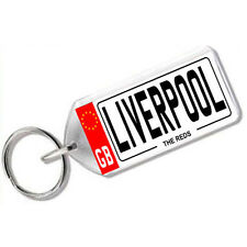 "NUMBER PLATE KEYRING FOR FOOTBALL FANS "" LIVERPOOL """