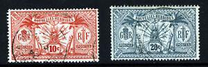 NEW HEBRIDES 1913 French Currency 10c. & 20c. Wmk RF/No Wmk SG F23 & SG F24 VFU