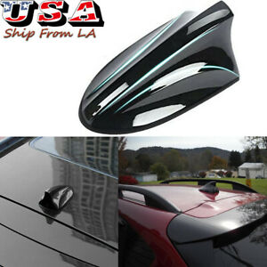 Black Large Top Roof Shark Fin Stereo Radio Signal Antenna FM/AM For Hyundai Kia