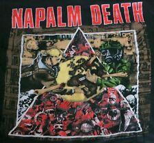 NAPALM DEATH Vintage 1992 European Tour Shirt M Carcass Bolt Thrower Immolation
