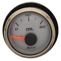 TELEFLEX ECLIPSE BOAT 80 PSI OIL PRESSURE GAUGE~12V~30180~MARINE~Gas Engine