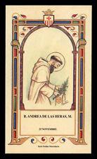 santino-holy card B.ANDREA DE LAS HERAS M. mercedario