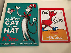 Dr Seuss Books Bundle The Cat In The Hat Cat In The Hat Comes Back Fox In Socks